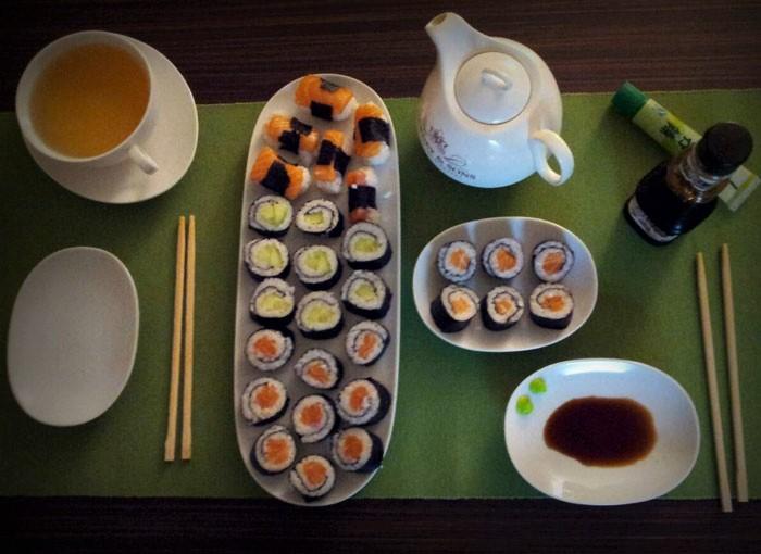 domácí maki sushi